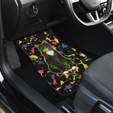 Colorful Tuxedo Cat - Car Mats