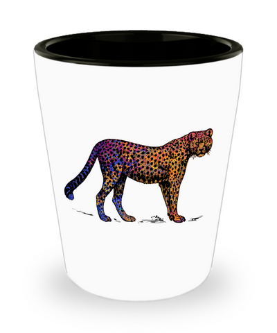 Colorful Cheetah Shot Glass