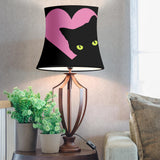 Black Cat Heart - Drum Lampshade