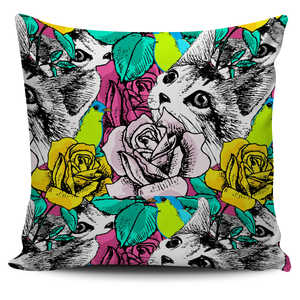 Floral Cat Pillow