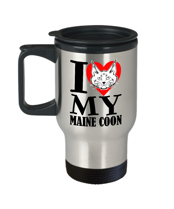 I Heart My Maine Coon Travel Mug