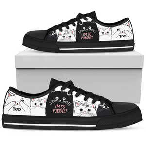 I'm So Purrfect Cat Womens Low Top Shoes