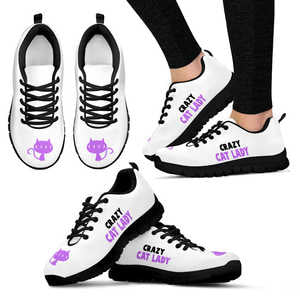 Crazy Cat Lady  Womens Sneakers