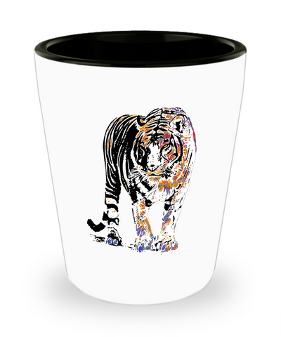 Colorful Tiger Shot Glas