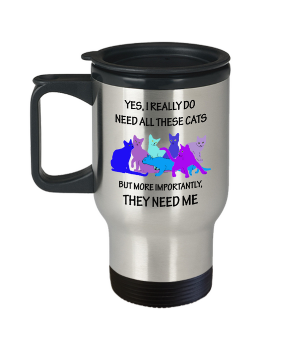 All These Cats (blues) Travel Mug