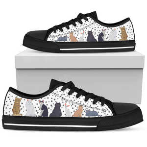 Cats and Dots Womens Low Top Shoes