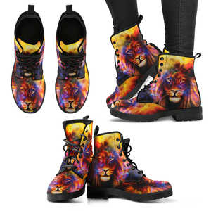 Lion Colorful Womens Handcrafted Boots