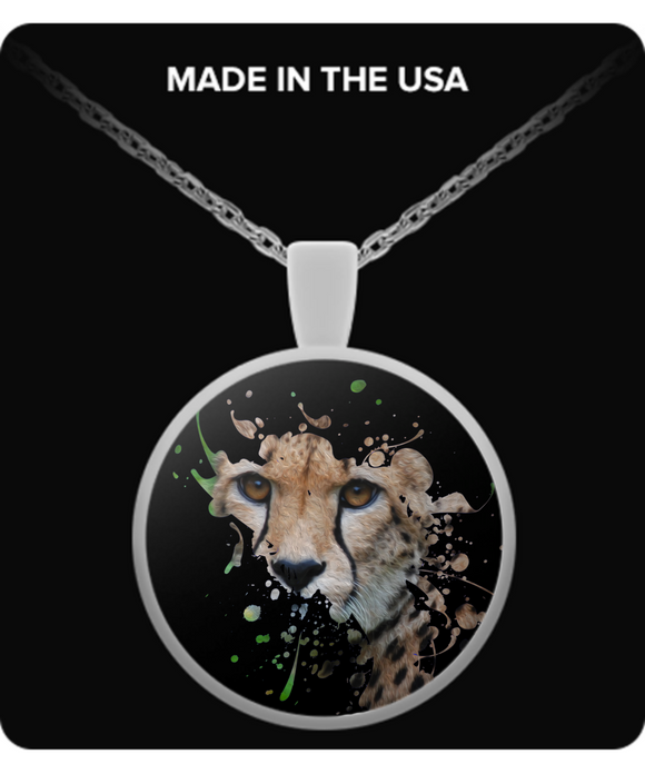 Disappearing Cheetah Pendant (silver plated) - Raven's World