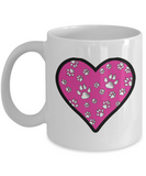 Full Heart (Cats and Dogs) Mug (white) 11 oz - Raven's World - 1