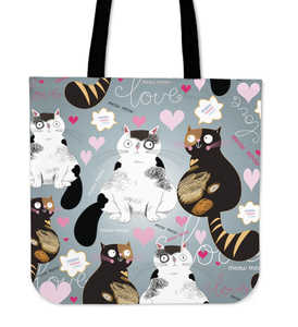 Pattern Cat Cloth Tote Bag