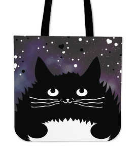 Cartoon Tuxedo Cat Tote