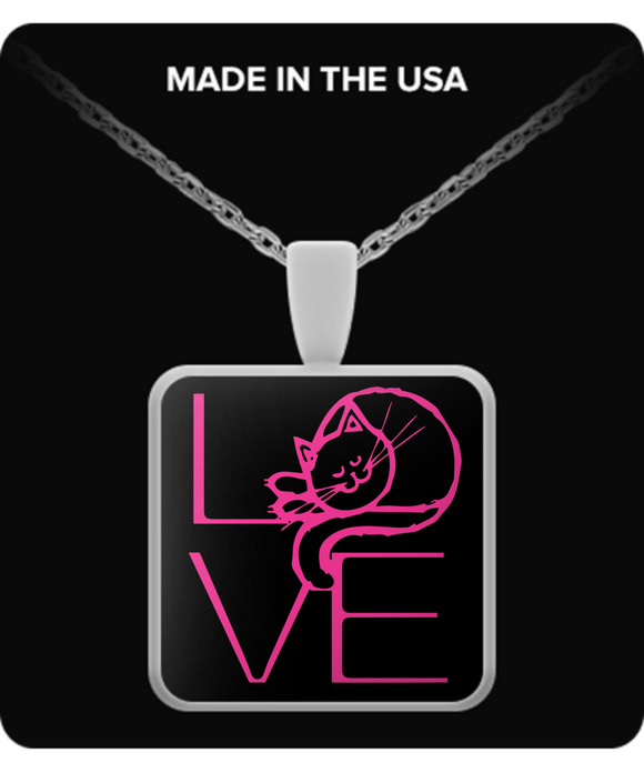 LOVE Cat Pendant (silver plated) - Raven's World