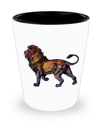 Colorful Lion Shot Glass