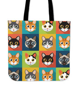 Cat Pattern Cloth Tote Bag