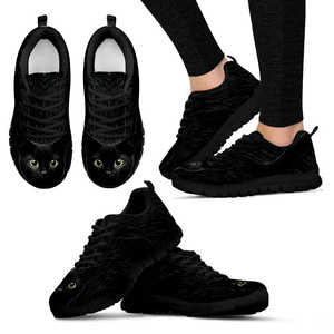 Black Cat Womens Sneakers
