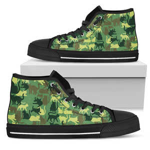 Camo Cats Womens High Top Shoes