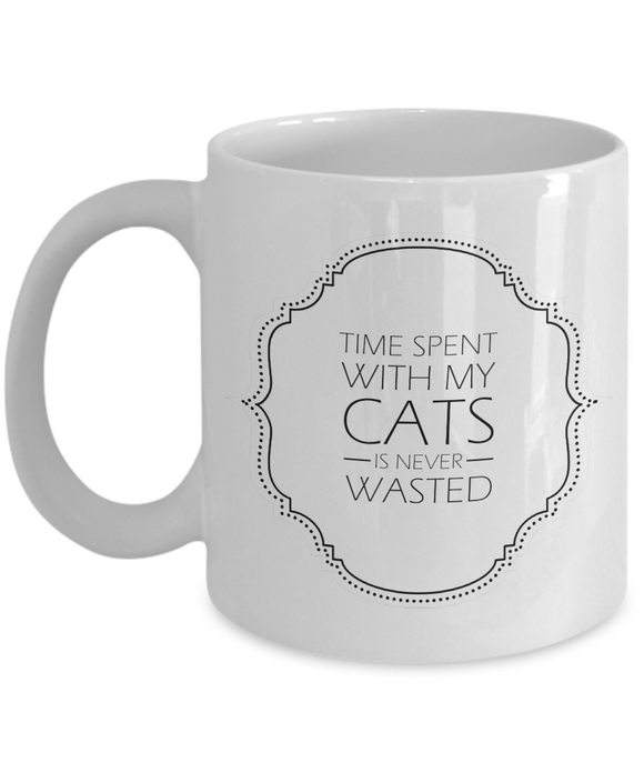 Time Spent with My Cats Mug (white) 11 oz - Raven's World - 1