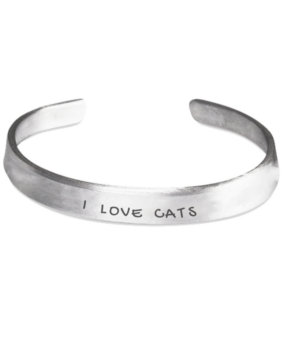 I LOVE CATS Cuff Bracelet - Raven's World