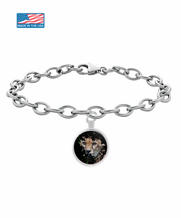Disappearing Cheetah Bracelet (silver plated) - Raven's World