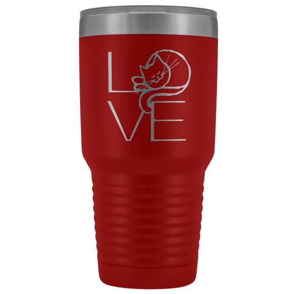 LOVE Cat 30oz Tumbler