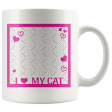I Love My Cat - Personalized 11oz Mug - Add Your Own Photo