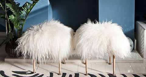 THANK HEAVEN FOR SHEEPSKIN - 10 CREATIVE WAYS TO USE IT IN YOUR HOME
