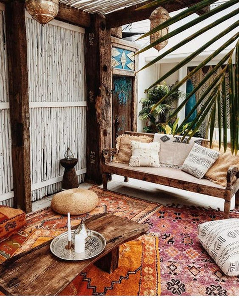 When It Comes To Boho Interior Design, More Is More: Multi Tonal  Ikat Inspired Prints Complement One Another, They Donu0027t Clash In Such A  Melding Pot Of ...