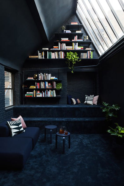 This Brooding Yet Ever So Beautiful Reading Room Sits Atop A 19th Century  Building In New York City, A Secret Nook Within A Loft Apartment.