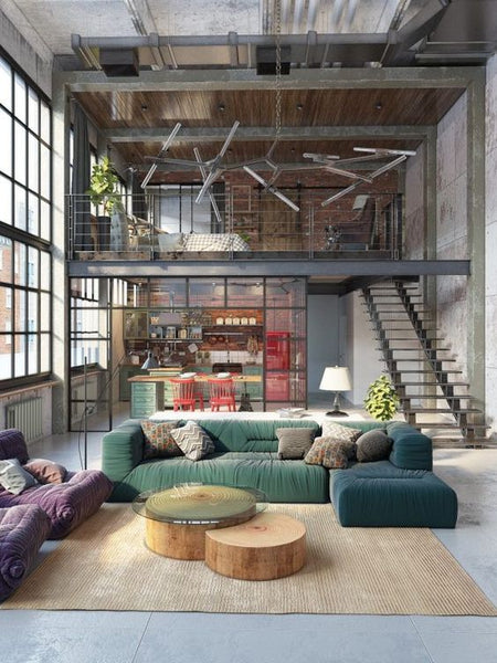extraordinary new york loft living room | New York Loft Style | How to Decorate | INTERIORS ONLINE