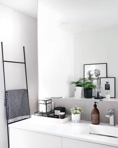 clean, stylish bathroom