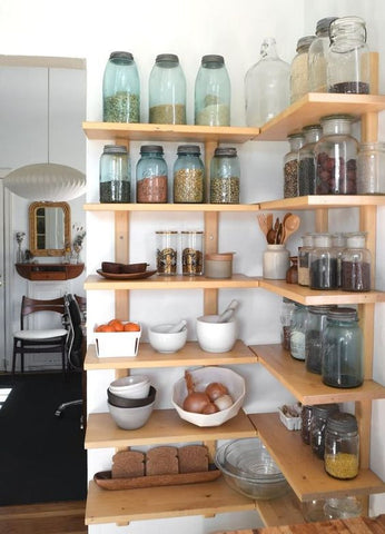 neatly organised pantry