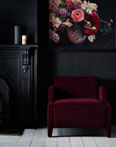 dark moody interior design