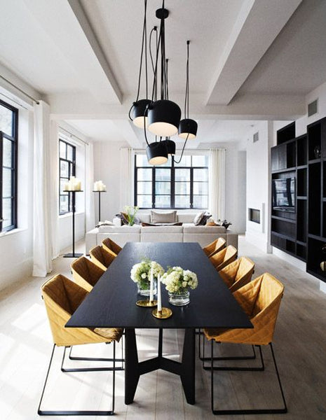 Delightful One Of The Most Striking Lighting Trends Is Clustering, Which Works Well  Over A Dining Table. Choose An Odd Number Of Pendants (three Is A Good  Place To ...