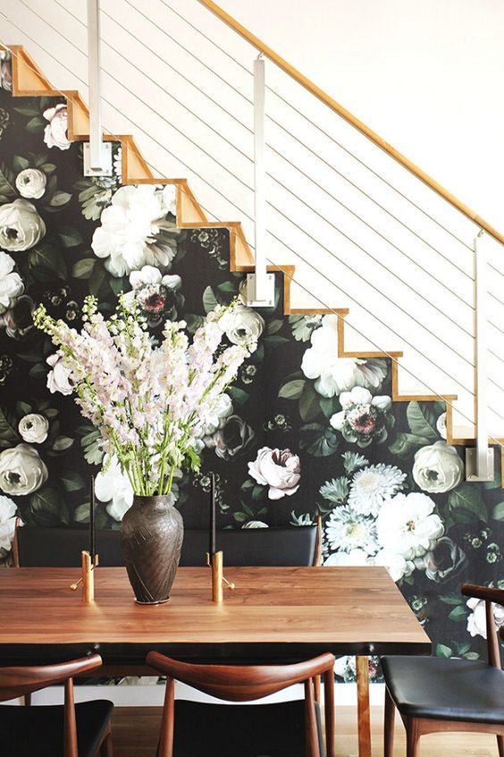 Floral feature wall