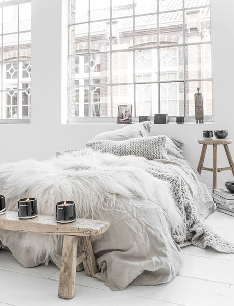 Beautiful Scandi styled bedroom