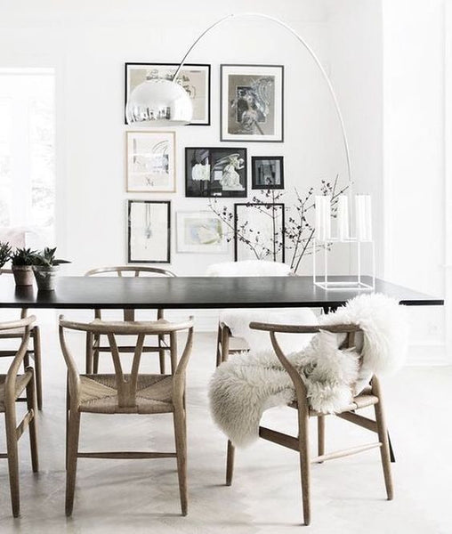 cosy Scandi style dining room