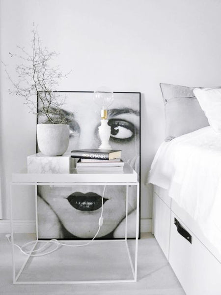 Layered bedside tables - Interiors Online