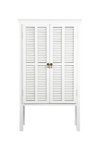 Louvre 2 Door Cabinet White