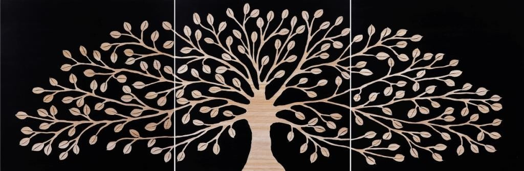 Tree of Life Tree Panels Natural and Black
