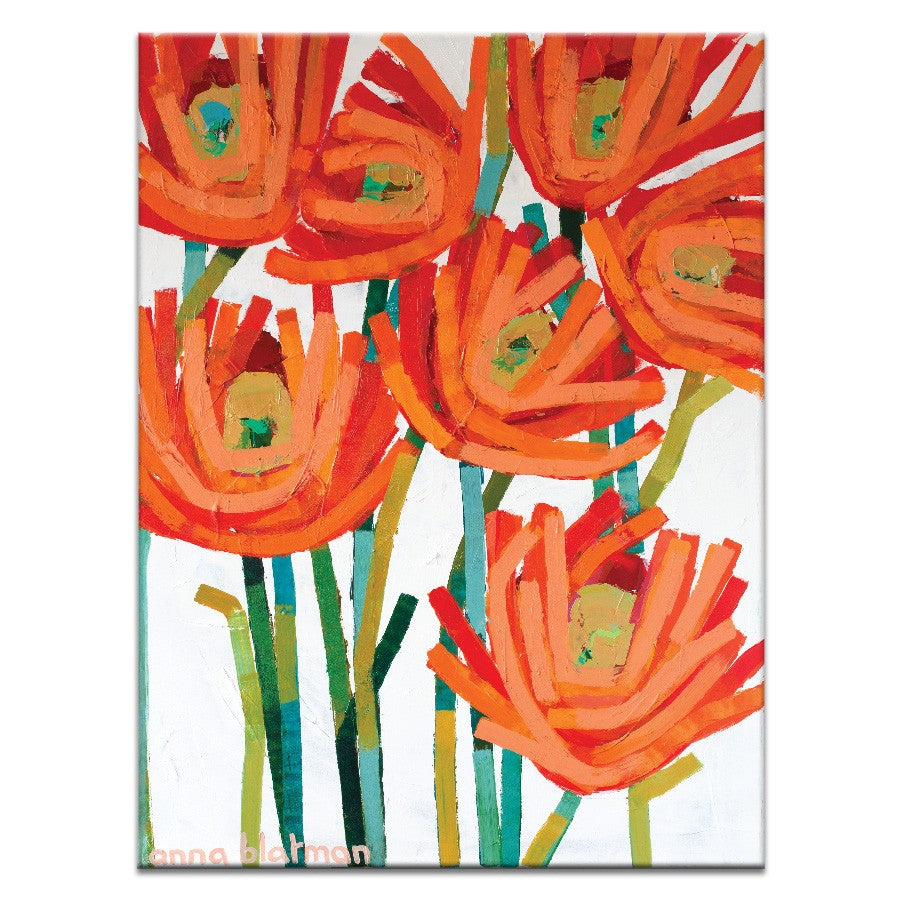 Orange Buds Canvas Print