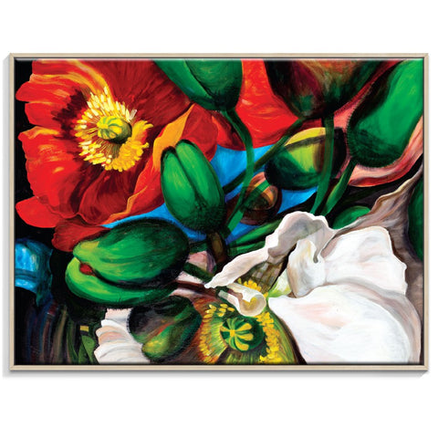 Singing Poppies Canvas Print with Frame