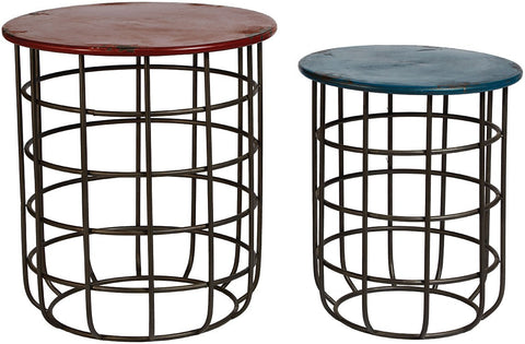 Rasa Drum Side Tables Set/2