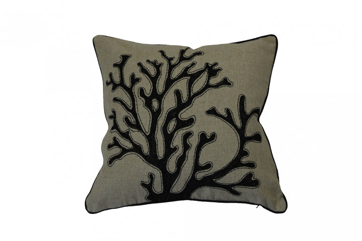Coral Cushion Black