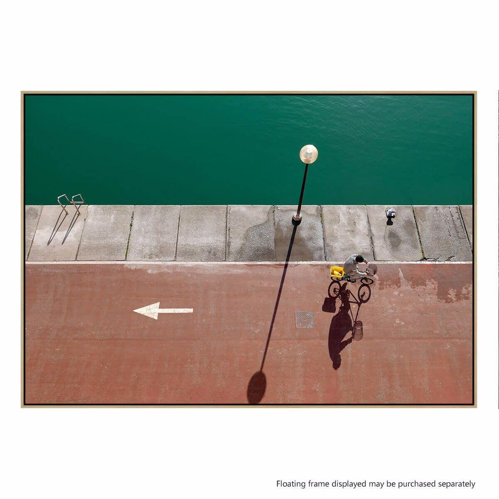 In Bici Photographic Canvas Print with Floating Frame