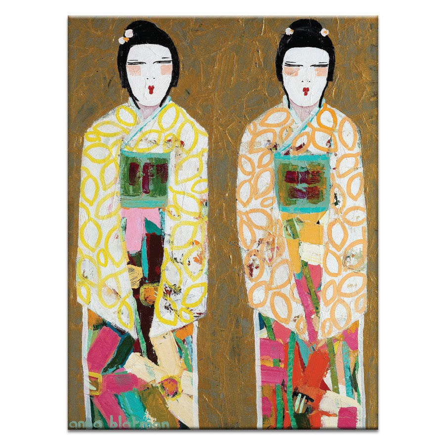 Double Geisha Canvas Print