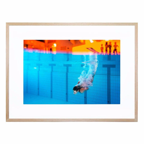 The Diver Giclee Print with Frame