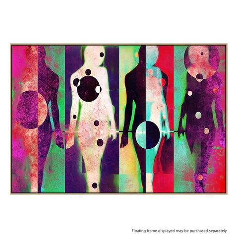 Body Language Canvas Print with Floating Frame