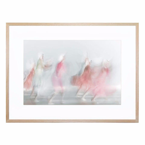 Red In Light Giclee Print with Frame