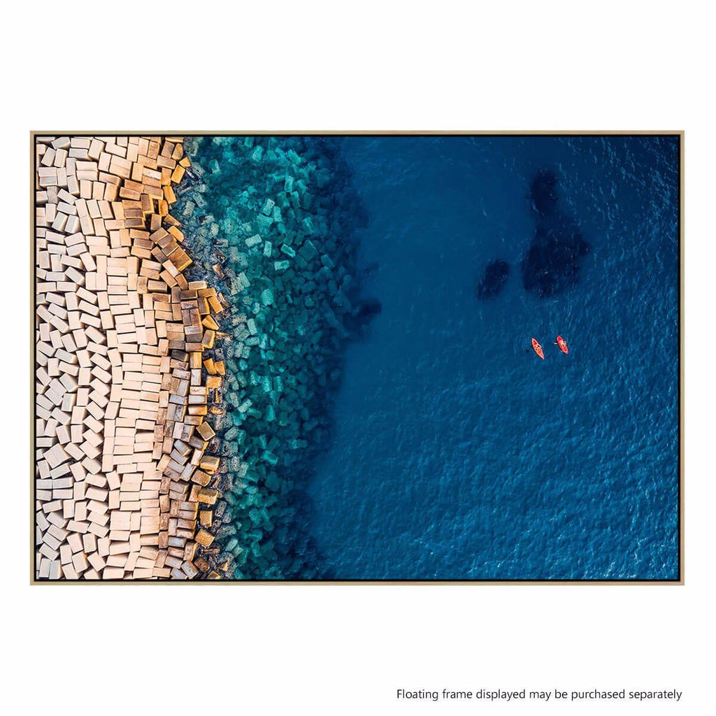 From Above II Photographic Canvas Print with Floating Frame