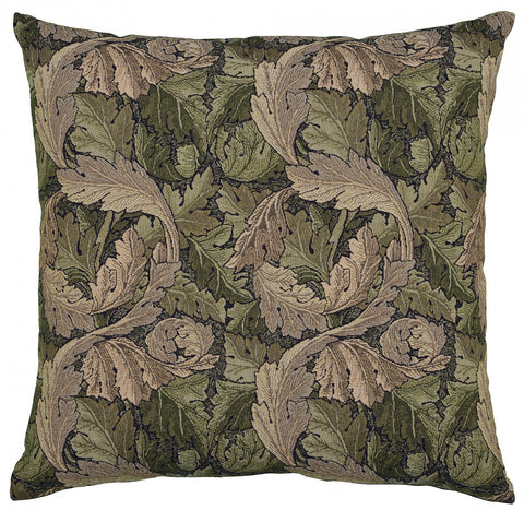 Heraldic Cushion Chocolate with Trim